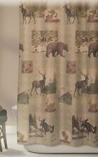 Genial Bear Moose Fabric Shower Curtain Design Home Mountain Lodge Woodland