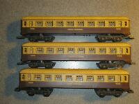 3 Lima HO Gauge GWR Brown & Cream Composite Coaches
