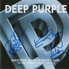 "Deep Purple Autogramm signed CD Booklet ""Knocking At Your Back Door - Best OF"""