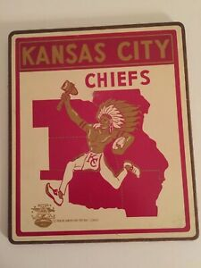 Kansas City Chiefs 1966 American Football League Vintage Plaque VERY RARE
