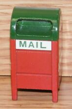 Unbranded Red & Green Mailbox Christmas Figurine Village Decoration Only *READ