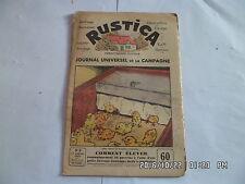 RUSTICA N°3 17/1/1937 ELEVER 50 POUSSINS HUTTE DE CHASSE FABRICATION DE SKIS G14