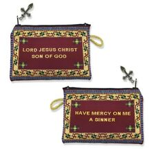 Tapestry Cloth Jesus Prayer Pouch Lord Jesus Christ, Son of God Have Mercy on Me