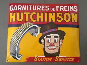 plaque émaillée Hutchinson station service automobilia enemal sign emailschild