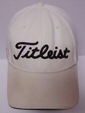 TITLEIST FJ FootJoy GOLF Clothing ADVERTISING Embroidered WHITE Hat Cap L-XL