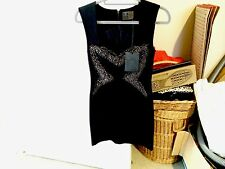 HUNT NO MORE Womens Black Beaded Dress Size 10 BNWT Beads NEW Classy Party HNM