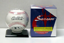2 x Saf-T-Gard ACRYLIC BASE MLB BASEBALL HOLDERS - AB01
