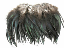 "50 NATURAL BLACK SADDLE ROOSTER CRAFT FEATHER 6-7""L"