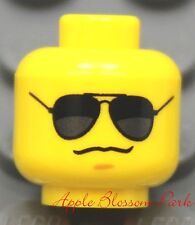 NEW Lego City Police Agents Boy MINIFIG HEAD w/Black Sun Glasses -Dino/Star Wars