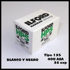 ROLLO DE PELÍCULA ILFORD BLANCO Y NEGRO CARRETE DE 135 HP5 PLUS DE 400 ASA 36 EX