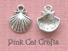 10 x Tibetan Silver COCKLE CLAM SEA SHELL SEASHELL Charms Pendants Beads