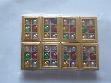 2 x 6  Miniatur Christbaumkugeln i.Karton aus Glas 10mm bunt matt & glänzend