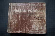 NISSAN FO5 F05 Series Forklift Parts Manual Catalog Book Spare List genuine 1993
