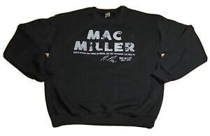 Mac Miller Sweatshirt Rapper Hip Hop Sweater Rap Memorial RARE Black Sz M