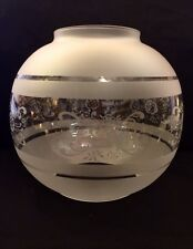 OIL LAMP GLOBE (KNOWN AS ETCHED) acid Clear Traditional Glass vintage lamp shade