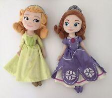 "Disney Jr Princess Sophia Sofia The First & Amber Plush Doll Disney Store 14"""
