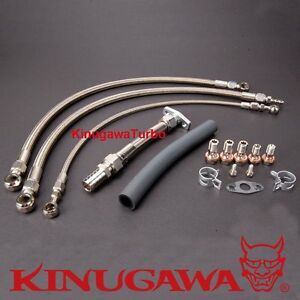 Top Mount Turbo Oil Water Line For Nissan RB20DET RB25DET w/ GT3076R GT3582R B.B
