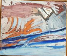 Willard LINDH (1918-2007) abstraction  Goteborg huile sur toile oil 91/108 cm