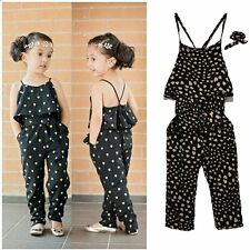 Toddler Kids Baby Girls Romper Jumpsuit Bodysuit Clothes Outfits Set 3-4T