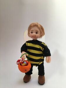 Ooak Doll Boy Girl Halloween Trick Treat Handmade  Miniature 1/12th Dolls House