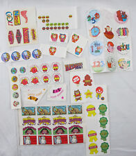 Vintage 1990s Children Elementary School Sticker Sheets Motts Sunshine Label