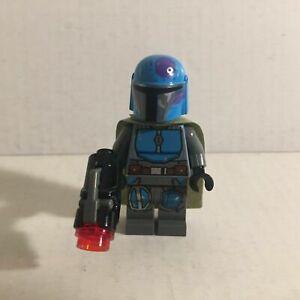 Authentic Lego Star Wars Blue Mandalorian Lego Minifigure with Blaster