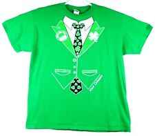 St. Patrick's Day Tuxedo Leprechaun Men's T-shirt XL Green New Orleans Kiss Me