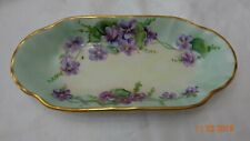 Antique Hand Decorated Celery Plate used for Congress Hotel Chicago Illinois