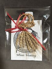 Wheat Weaving Celtic Knot Christmas Ornament Hand Made Vintage Holiday