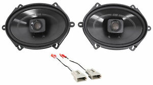 "Polk 5x7"" Front Factory Speaker Replacement Kit+Harness For 1997-98 Ford F-150"