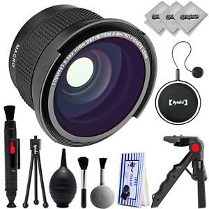 Opteka 0.35x Super Wide Angle Panoramic Macro Fisheye Lens For Canon DSLR Camera