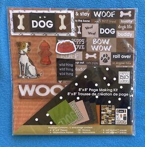"""me & my BiG ideas 8""""x8"""" Page Making Kit  Dog PK-211 NIP/NOS"""