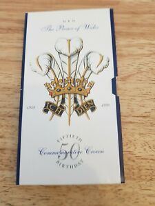 1998 £5 FIVE POUND CROWN BU UNCIRCULATED PACK PRINCE OF WALES 50TH BIRTHDAY HRH