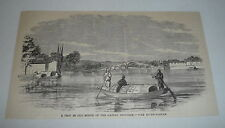 1879 magazine engraving ~ THE RIVER SAMPAN Canton Province, China