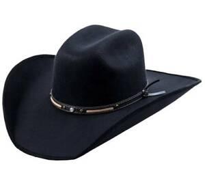 MEN'S BLACK  WESTERN COWBOY HAT, THE OLD BERISTAIN LUXURY STYLE, VAQUERO DE LUJO