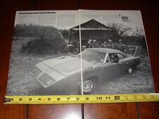 1970 PLYMOUTH SUPERBIRD - MOONSHINE RUNNER - ORIGINAL 2 PAGE AD