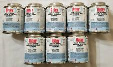 8 New Cans Oatey Rain-R-Shine Medium Blue PVC Cement 30891