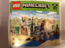 New Lego Minecraft Instruction Manual ONLY for set 21121 The Desert Outpost