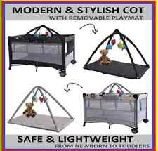 NEW BABY NEWBORN TRAVEL COT BASSINET PLAYPEN PORTACOT WITH CHANGING STATION