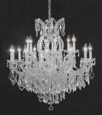 16 LIGHT SILVER GRAY MARIA THERESA CRYSTAL CHANDELIER LIVING DINING ROOM FOYER