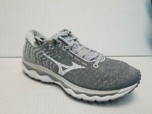 NO INSOLES- Mizuno Wave Sky 2 Running Shoes, Women's Size 9, Gray