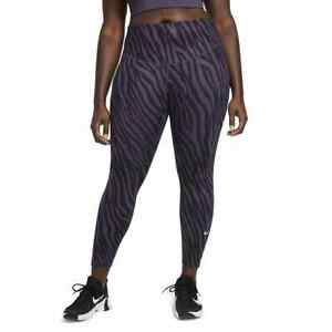 NIKE Women's One Icon Clash Printed Ankle Leggings (Plus Size 1X) NWT MSRP $60