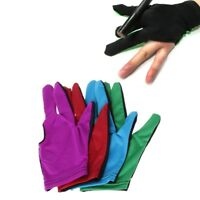 Lycra Fabric Snooker Billiard Cue Glove Pool Left Hand Three Finger Accessories