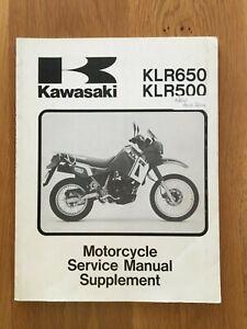 Kawasaki KLR650  workshop service manual supplement   See below