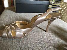 Gina Sling Back Bronze High Heels Uk 8/ US 8.5/ EUR 41