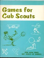 Games for Cub Scout - Vintage Pow Wow Series BSA Booklet - 1963/1972
