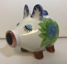 Vintage Floral Handpainted Pig Salt Shaker Made in Japan Magnet Nose Only 1 Pig!