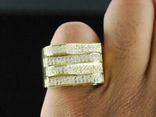 Mens Brass 14k Yellow Gold Finish Hip Hop Micro Pave Iced Out Pinky Ring Size 9