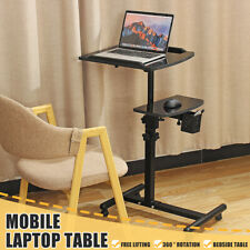 Lift Computer Desk Adjustable Height Stand Up Laptop Table Rolling