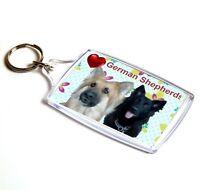 German Shepherds Keyring  Dog Key Ring Alsatians Gift Xmas Gift Stocking Filler
